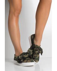 AKIRA - Qt Bow Slip On Sneaker - Lyst
