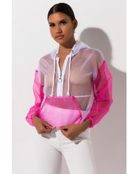 AKIRA See Your Game Organza Pullover - Pink