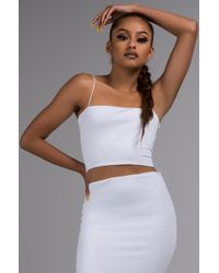 AKIRA - Your Glow-to Girl Crop Top - Lyst