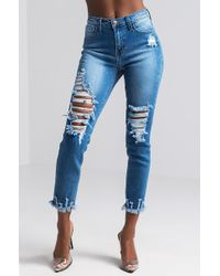 Akira | Yours And Mine Distressed Skinny Jeans | Lyst