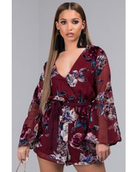 82ad73c78d3 ... Gypsy Collective.  144. Free People · AKIRA - Love Spell Floral Romper  - Lyst