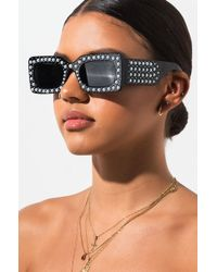AKIRA - Show Me Love Pearl Embellished Sunglasses - Lyst