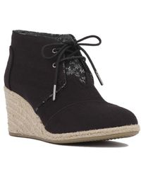 25154473a3ac AKIRA - Toms Desert Rope Lined Wedge Bootie - Black - Lyst