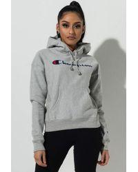 Champion - Chainstitch Script Logo Pullover Hoodie - Lyst
