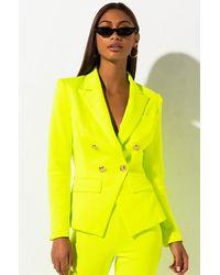 AKIRA Get On My Level Blazer - Yellow