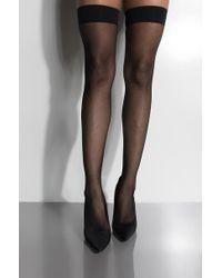 AKIRA - Rock It Thigh High Mirco Net Sock - Lyst