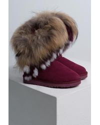 Cape Robbin - Wow Look At This Real Fur Bootie - Lyst