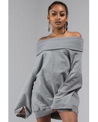 AKIRA - Back To The Future Off Shoulder Sweatshirt - Lyst