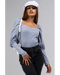 AKIRA - Shes Ruthless Cropped Peasant Top - Lyst