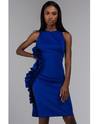 bfc6272c896b Lyst - AKIRA Flowers Of Power Off Shoulder Dress in Black