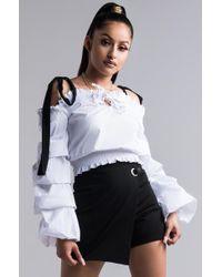 AKIRA - Side To Side Skirt Shorts - Lyst