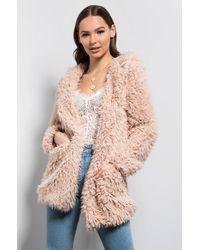 AKIRA - Brunch Babe SHAGGY Faux Fur Coat - Lyst