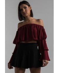 AKIRA - Fly Me Away Off Shoulder Top - Lyst