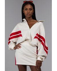 AKIRA - Serena Zip Up Sweatshirt - Lyst