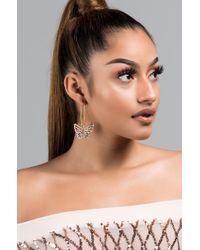 AKIRA - All That Glitters Is Gold Butterfly Earring - Lyst