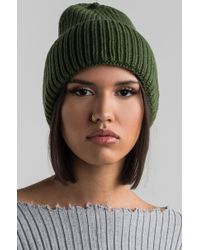Akira | Piccadilly Circus Knitted Beanie | Lyst