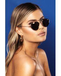 9455d4a83033d Quay Quay Round Sunglasses In Black Tortoise in Black - Lyst