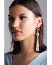 AKIRA - Down For You Beaded Fringe Earring - Lyst