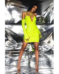 219b63bac58a AKIRA - Why So Serious Bodycon Bandage Mini Dress - Lyst