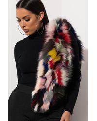 AKIRA - U Got The Look Fox Fur Scarf - Lyst