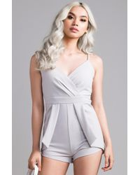 037a473feadf Lyst - Akira Take Me Under Lace Top Jumpsuit in White