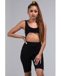 AKIRA - Just Right High Waisted Biker Short - Lyst