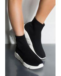 AKIRA - Get On My Level Flat Sneaker - Lyst