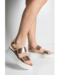 AKIRA - Cher Is That You Platform Sandal - Lyst