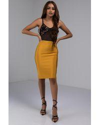 AKIRA - Bandage Midi Skirt - Lyst