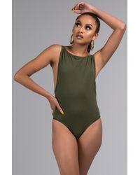 6e8df83793 PAXTON - Berry Open Back Bodysuit - Lyst