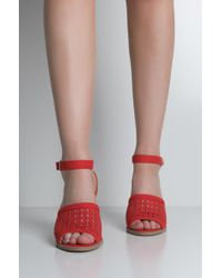 Unk - Perforated Chy Heel Sandals - Lyst