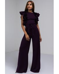 AKIRA - Down For The Night Ruffled Sleeve Jumpsuit - Lyst