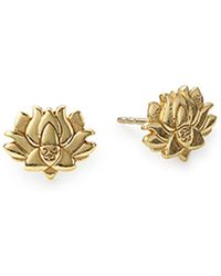 ALEX AND ANI - Lotus Peace Petals Post Earrings - Lyst