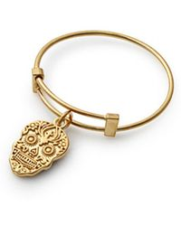 ALEX AND ANI - Calavera Expandable Wire Ring - Lyst