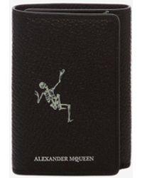 "Alexander McQueen - ""dancing Skeleton"" Trifold Card Holder - Lyst"