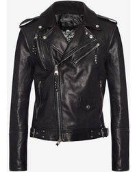 Alexander McQueen - Leather Biker Jacket - Lyst