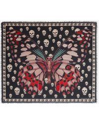 Alexander McQueen - Giant Butterfly Skull Scarf - Lyst