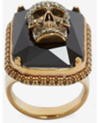 Alexander McQueen - Jewelled Skull Ring - Lyst