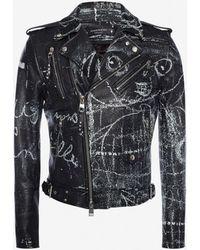 Alexander McQueen Bikerjacke aus Leder John Deakin