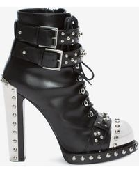 Alexander McQueen - Hobnail Ankle Boot - Lyst