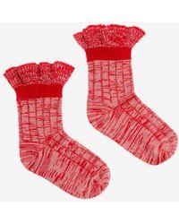 Alexander McQueen - Tweed Ankle Socks - Lyst