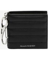 Alexander McQueen - Black Padded Billfold Wallet - Lyst