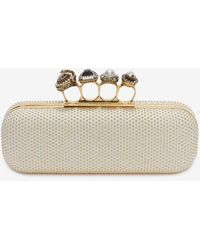 Alexander McQueen - Studded Four Ring Clutch - Lyst