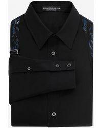 Alexander McQueen - Camicia Harness Ricamata - Lyst