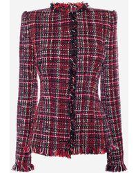 Alexander McQueen - Artisan Tweed Fitted Jacket - Lyst