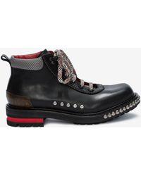 Alexander McQueen - Studded Hiking Boot - Lyst