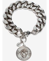 Alexander McQueen - Crow & Skull Medallion Chain Bracelet - Lyst