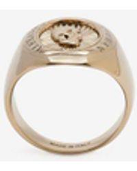 Alexander McQueen - Skull Medallion Ring - Lyst