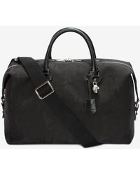 Alexander McQueen | Skull Camouflage Jacquard Leather Holdall | Lyst