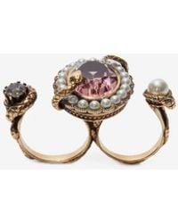 Alexander McQueen - Snake Jewelled Ring - Lyst